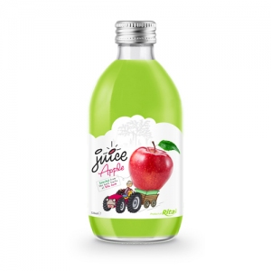 glass 320ml fruit apple juice private label brand